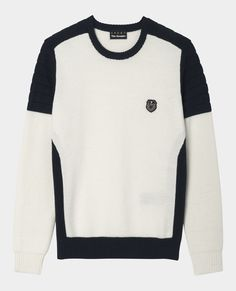 Pull col rond bicolore - Maille - Homme - The Kooples