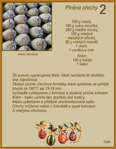 Christmas Baking, Christmas Cookies, Baking Recipes, Cookie Recipes, Czech Recipes, Ham, Biscuits, Good Food, Food And Drink