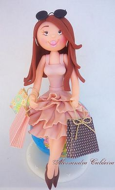 its all made out of cake! it looks like a doll!