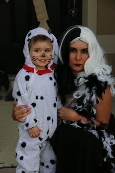 Mother and son Halloween costume ideas Cruella De Ville and Dalmatian  sc 1 st  Pinterest & Mom and Son Disney Halloween costumes! Matching Cinderella and ...