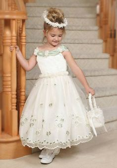 Cheapest Captivating Off the Shoulder Ball Gown Flower Ankle Length Lace  Satin Flower Girl Dress Online 0389483184e6