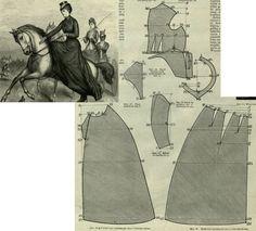 Mody Paryzkie 1879.: Riding habit.