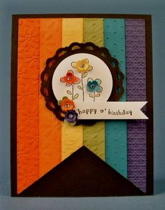 HSS Theme Challenge- Rainbows  I love the embossed brightly colored card