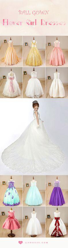 Cute Ball Gown Flower Girl Dresses! #Flowergirldresses