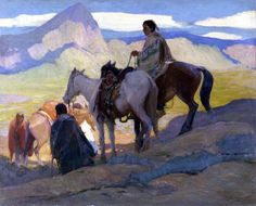 Oscar E Berninghaus, Edge of the Foothills