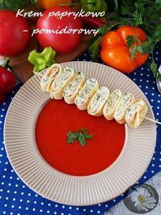 Krem paprykowo – pomidorowy z naleśnikowym szaszłykiem  #obiad