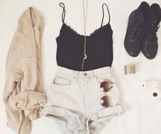 outfits with combat boots | ... tank combat boots moon necklace cute outfit cardigan shoes edit tags