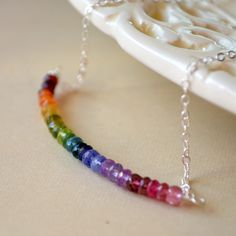 Rainbow+Necklace+Gold+or+Sterling+Silver+Jewelry+by+livjewellery,+$72.00