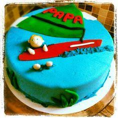 Surf taart voor vaderdag. Made by KlipCake.