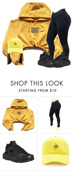 """""""Untitled #602"""" by ramenmatty ❤ liked on Polyvore featuring NIKE and Forever 21"""