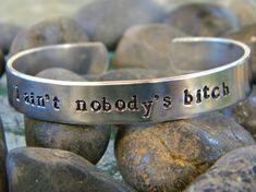 Walking Dead Inspired Bracelet - I ain't nobody's bitch