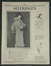 Babs Francis Selfridge's Deco Fashion Hugh Cecil 1925 Advertisement Ad 6429