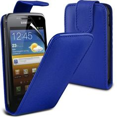 Buy Samsung Galaxy W i8150 Leather Flip Case Cover (Dark blue) Plus Free Gift, Screen Protector and a Stylus Pen, Order Now Best Valued Phone Case on Amazon! By FinestPhoneCases NEW for 10.99 USD | Reusell