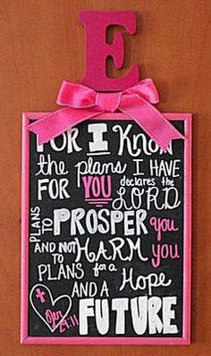 A Bible verse, Jeremiah 29:11 For I know the plans I have for you, declares the Lord, is framed in fuchsia pink with baby Emerson's initial and a girly bow atop the subway style wall art: There's a lot to love about blush pink and grey nurseries for baby girls but in my mind fuchsia pink and gray is even better. There is simply no denying