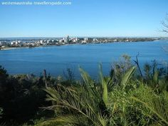 Swan River Views from Kings Park in the city of Perth, Western Australia