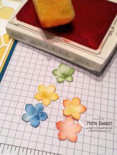 Petite-petals-punch-sponge-edges  Stampin Up