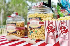 """use a DVD Projection player and put up a big screen in the yard... Blankets and lawn chairs and lots of treats for a """"movie in the park"""" party"""