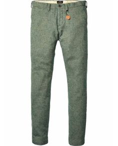 Slim Fitted Wool Dress Pants > Mens Clothing > Pants at Scotch & Soda - Official Scotch & Soda Online Fashion & Apparel Shops Men Trousers, Mens Dress Pants, Men Dress, Men Pants, Mens Fashion, Fashion Outfits, Boy Outfits, Wool Pants, Style Guides