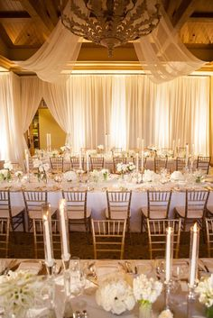 photo: Samuel Lippke Studios; glamorous ballroom wedding reception;