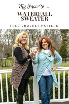 Free Crochet Pattrn - My Favorite Waterfall Sweater Part 1 | Pattern Paradise| Make this fantastically versatile sweater in cardigan or vest form for a year-round fashion accessosry! #crochet #patternparadisecrochet #cal #celebratemomcal #sweater #cardi #vest