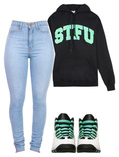 """STFU."" by prettygirlnunu ❤ liked on Polyvore"