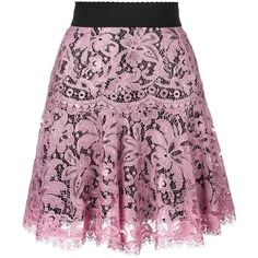 Dolce & Gabbana lace pleated skirt ($1,575) ❤ liked on Polyvore featuring skirts, bottoms, dolce & gabbana spring summer 2017, short pleated skirt, high-waisted skirts, high waisted lace skirt, elastic waist skirt and short summer skirts