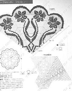 Home Decor Crochet Patterns Part 130 - Beautiful Crochet Patterns and Knitting Patterns Crochet Doily Diagram, Crochet Chart, Thread Crochet, Crochet Doilies, Free Crochet, Doily Patterns, Easy Crochet Patterns, Knitting Patterns, Crochet Round