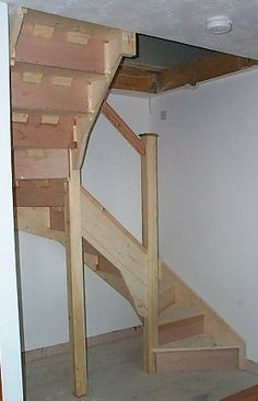 Narrow stairs to the attic ... something like this to ...