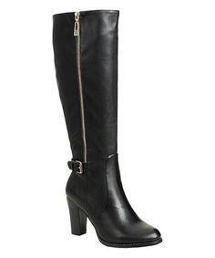 Black Buckle Mylee Boot #zulily #zulilyfinds