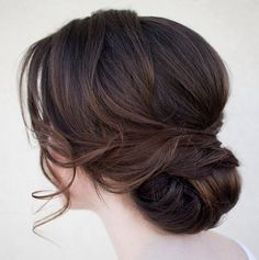 Chic Chignon hairstyle is perfect for you, if you want to special hairdo for a party or occasion. Chignon hairstyle gives a unique look to your hair. Bridal Hair And Makeup, Hair Makeup, Makeup Hairstyle, Low Updo, Side Bun Updo, Up Hairstyles, Vintage Hairstyles, Vintage Updo, Wedding Vintage