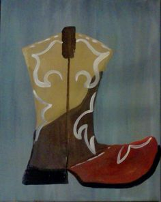 Art Classes and Parties in Atlanta Art Party, Easy Paintings, Color Show, Cowboy Boots, Artsy, Diy Crafts, Anchors, Canvas, Paint Ideas