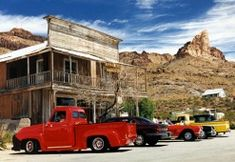 Main Street, Oatman, Arizona. Heading east from California Oatman is one of the first towns on the longest remaining section of Route 66.
