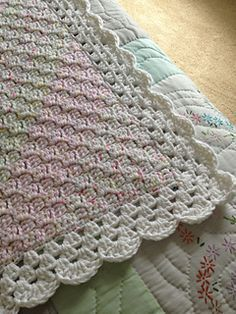 C2C baby blanket It gives directions for the edging on the ravelry page.