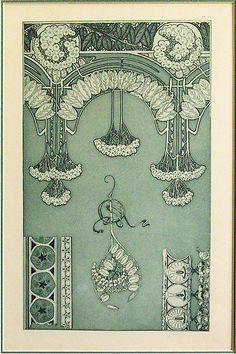 Art Nouveau illustration by Alphonse Mucha Uff krásná čistota