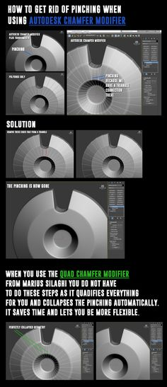 Autodek Chamfer Modifier - how to get rid of pinching - ChamferZone