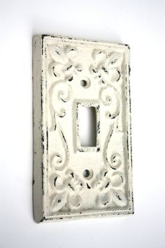 Shabby Cottage Chic Cast Iron Switch Plate Cover by SecondHandNews, $9.00