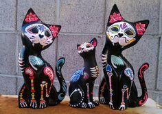 Dia de los Muertos Gatos