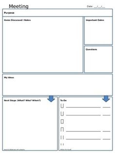 Elegant Meeting Note Taking Template Ideas Meeting Note Taking Template