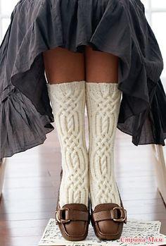 Вяжем носки с аранами Cable Detail Socks