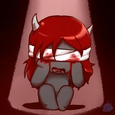 """Lilith crying. From the game """"The Binding of Isaac: Afterbirth"""""""