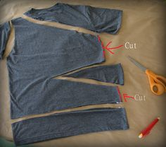 Side Tied, Triangle Tee: DIY WobiSobi: Side Tied, Triangle Tee: DIY<br> This Shirt is such a cute, easy shirt for summer. It literally will only take you about 15 minutes to create. I told you, I am . Diy Clothes Tops, Diy Clothes Refashion, Diy Tops, Diy Clothing, Sewing Clothes, Diy Clothes Life Hacks, Diy Cut Shirts, Simple Shirts, Diy Shirt