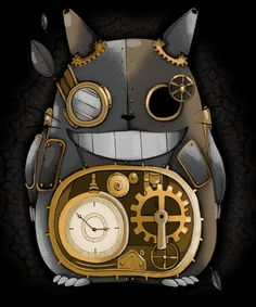 My Neighbor Steampunk, a t-shirt by at UmamiTees Secret World Of Arrietty, The Secret World, Totoro Nursery, Film Animation Japonais, Pom Poko, Tales From Earthsea, Kawaii Games, The Cat Returns, Steam Girl