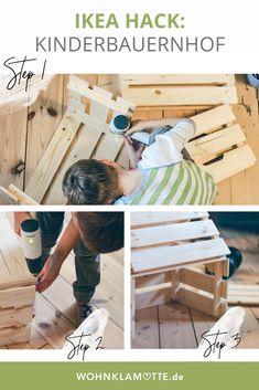 Mit diesem IKEA Hack baust du einen schönen Kinderbauernhof aus den KNAGGLIG Kisten.