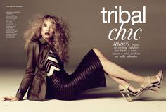Tribal Chic | Gwen Loos | David Roemer #photography | Glamour Italy February 2012: I love her hair...