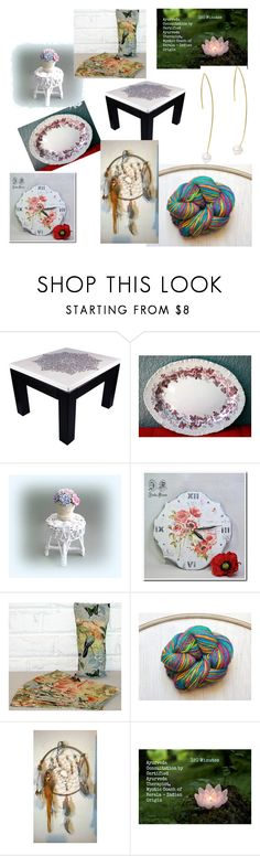 """""""Etsy Finds"""" by overthetopcaketoppers ❤ liked on Polyvore featuring interior, interiors, interior design, home, home decor, interior decorating, vintage, gold, etsy and gifts"""