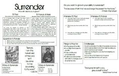 Look to Him and be Radiant: Surrender Youth Group Lesson- St. Francis and St. Paul