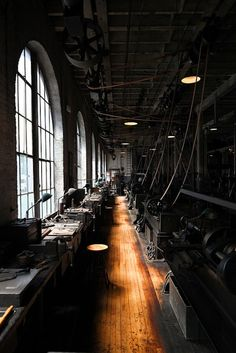 Industrial. Machine age. Love the repetition.