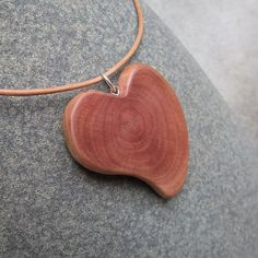 Love heart necklace unique wood jewelry by NaturesArtMelbourne