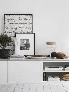 DIY-tipset: Klinker som skiva på tv-bänk gjord av köksskåp!