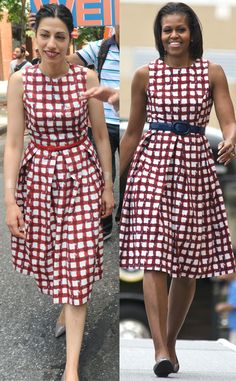 Anthony Weiner's wife Huma Abedin vs. Michelle Obama in ASOS. Who wore it best? #fashion